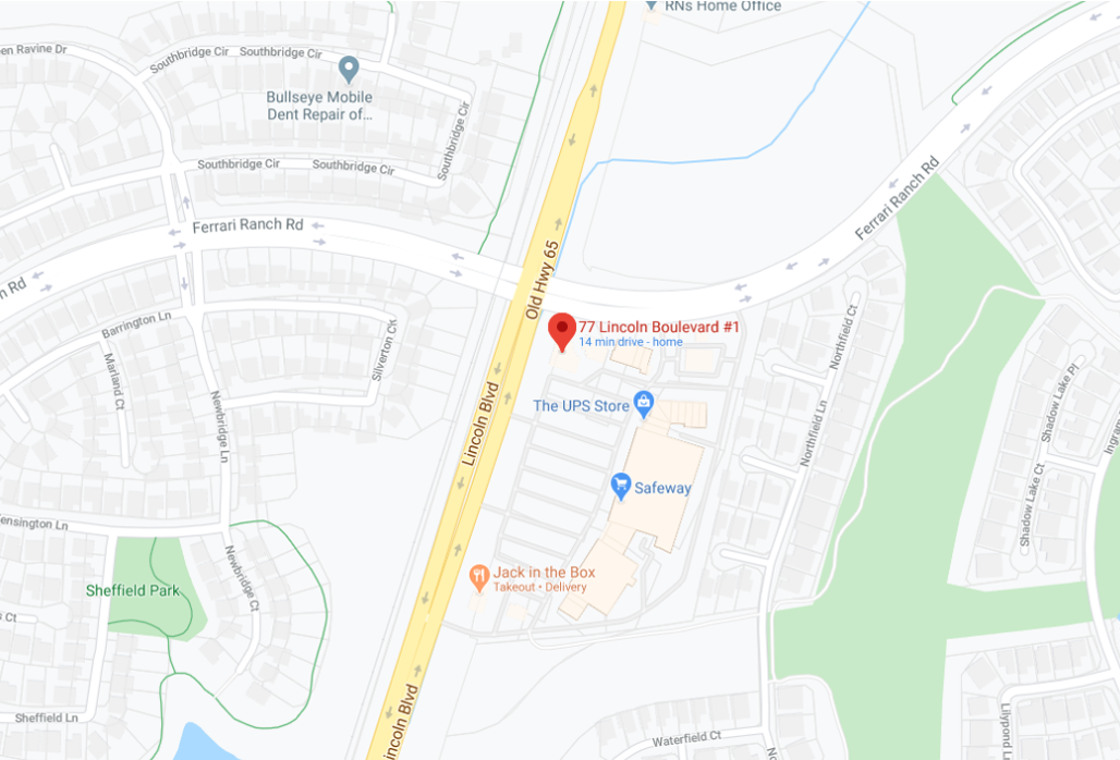Lincoln Urgent Care Map