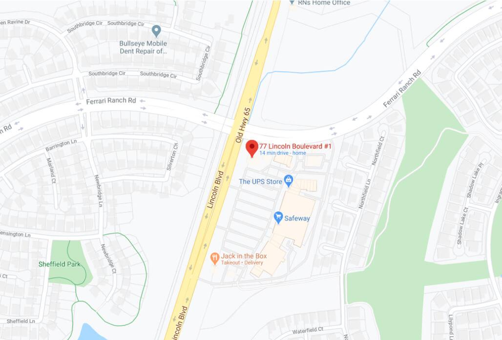 Lincoln Urgent Care's Location